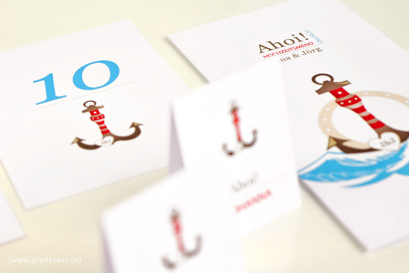 Ahoi Hochzeitspapeterie mit Anker