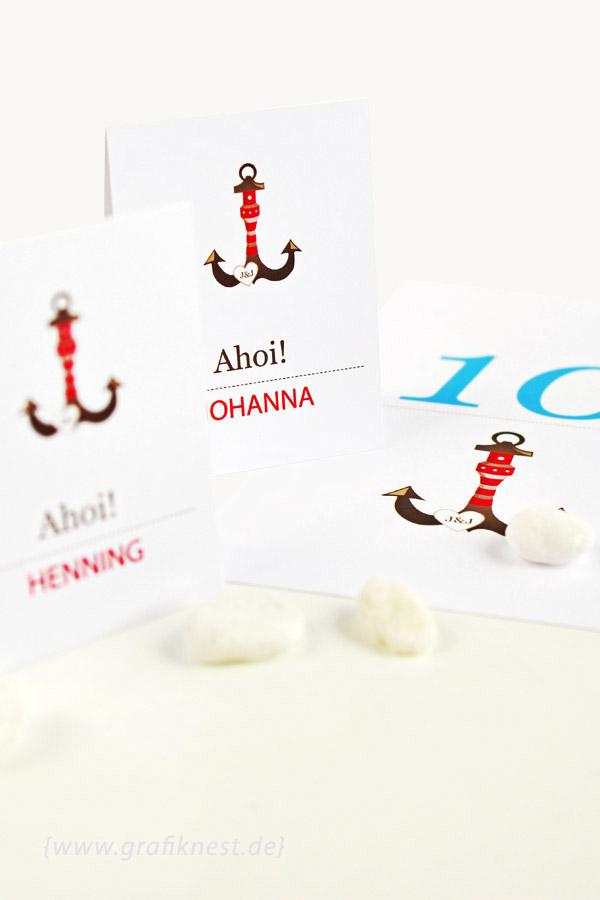 Tischkarten Ahoi Papeterie