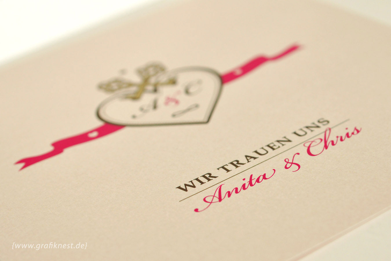 Einladung Hochzeitspapeterie Schluessel