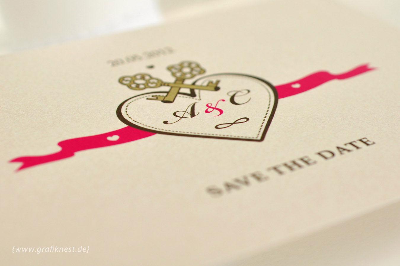 Save the Date Schluessel Design
