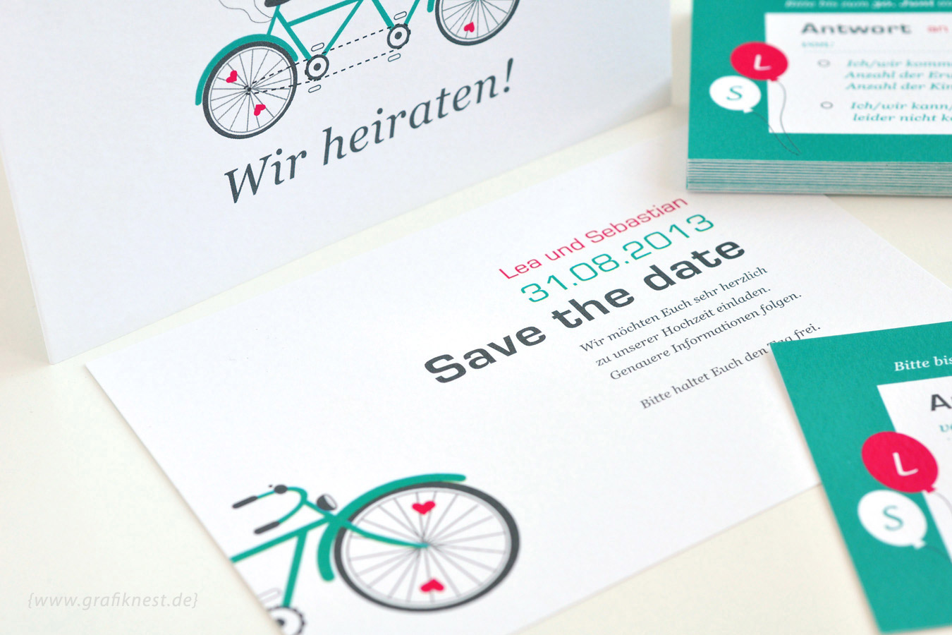 Hochzeitspapeterie Tandem Save the Date
