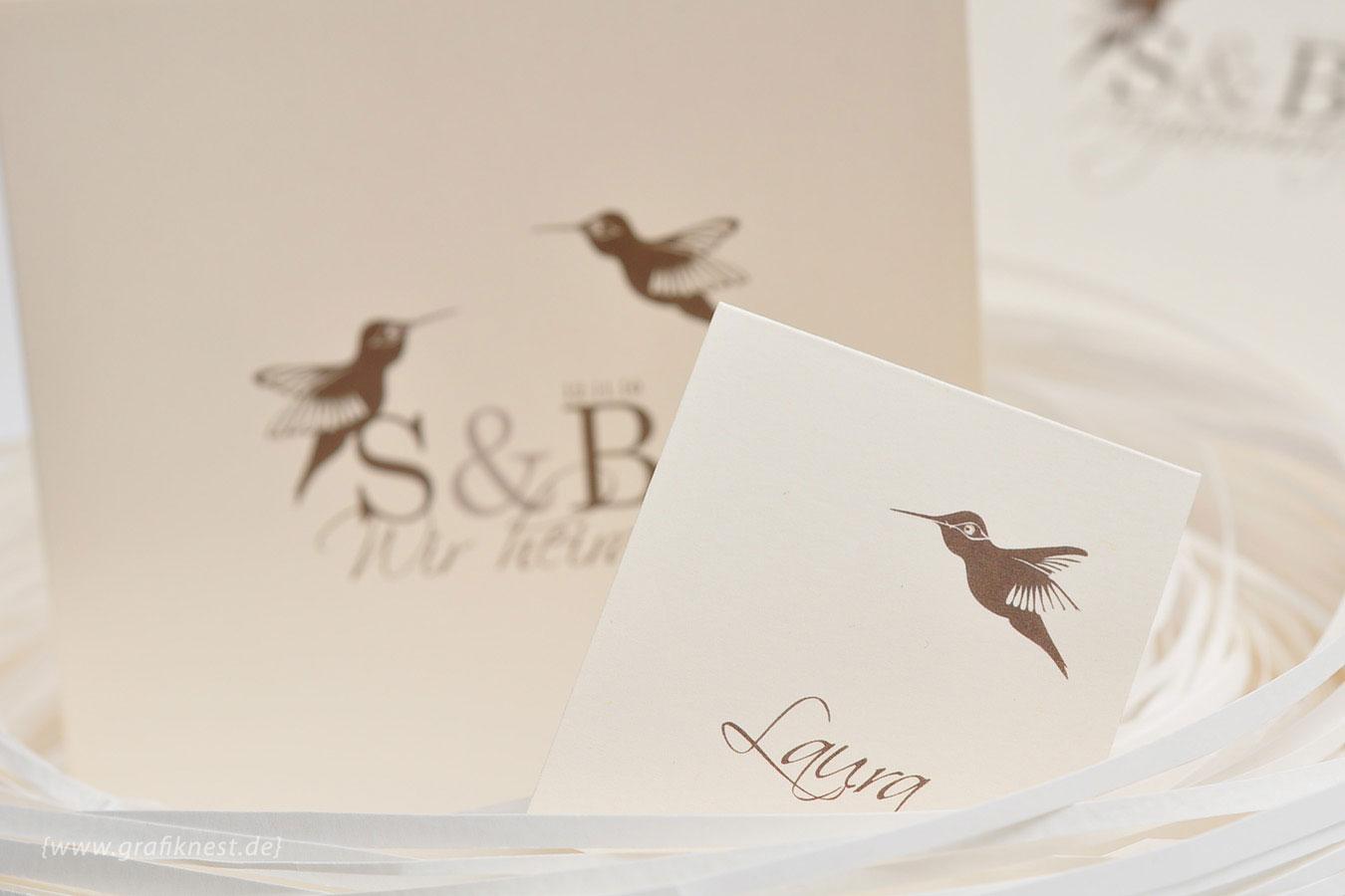 Hochzeitskarten mit Kolibris