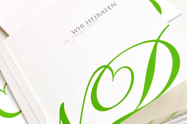 Monogramm Einladung