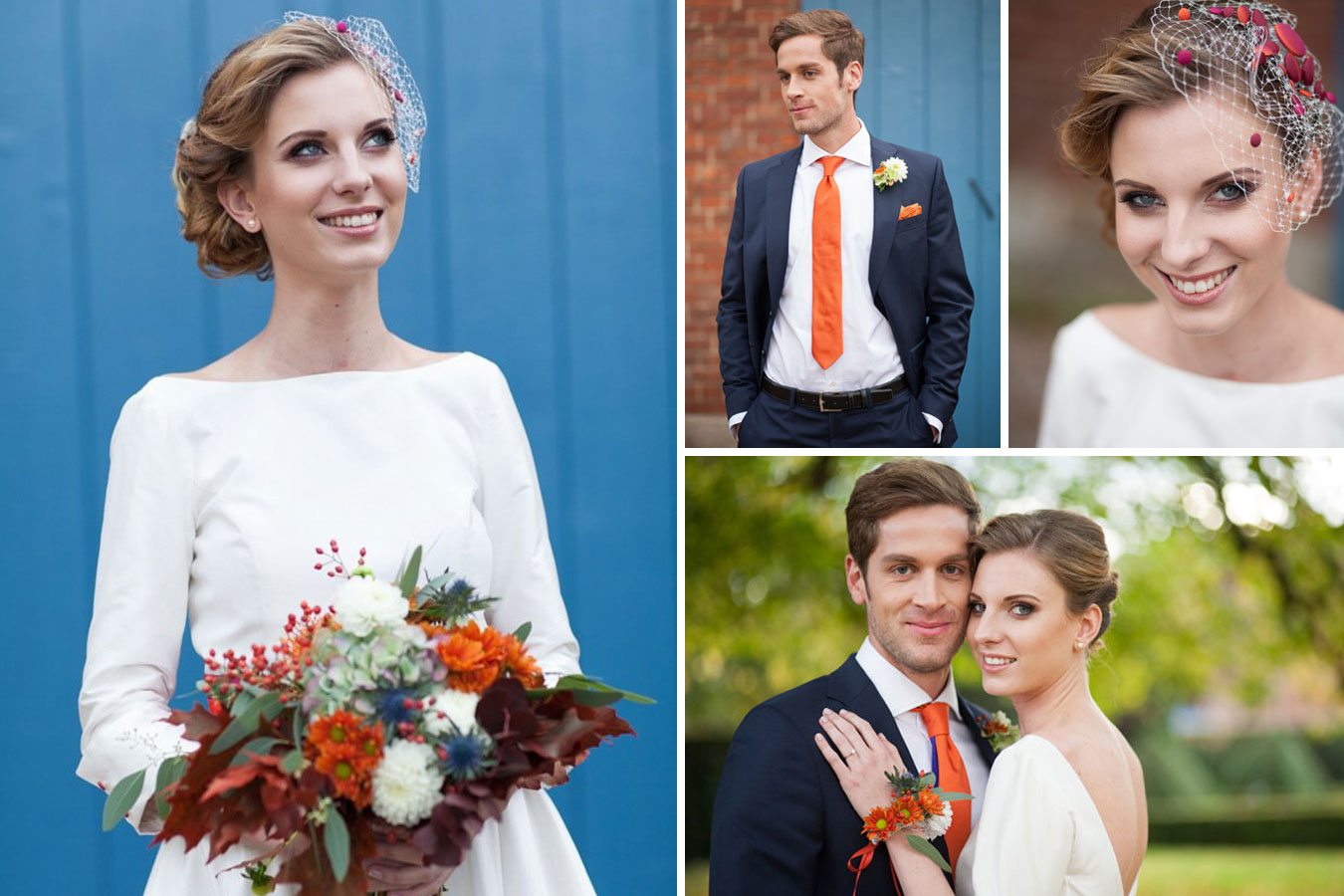 Herbstliches Styled Shoot - Brautpaar