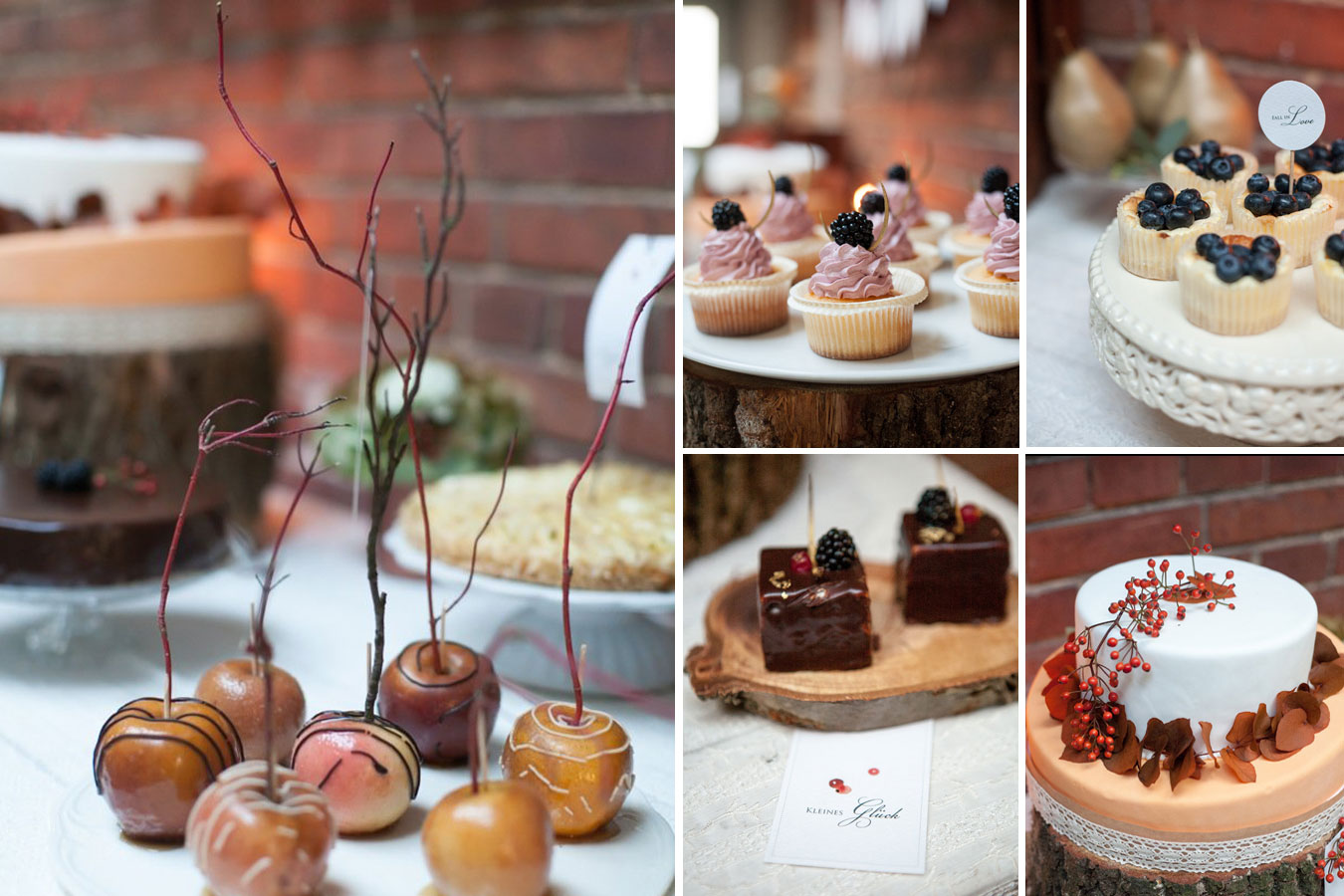 Herbstliches Styled Shoot Fall in Love Sweet Table