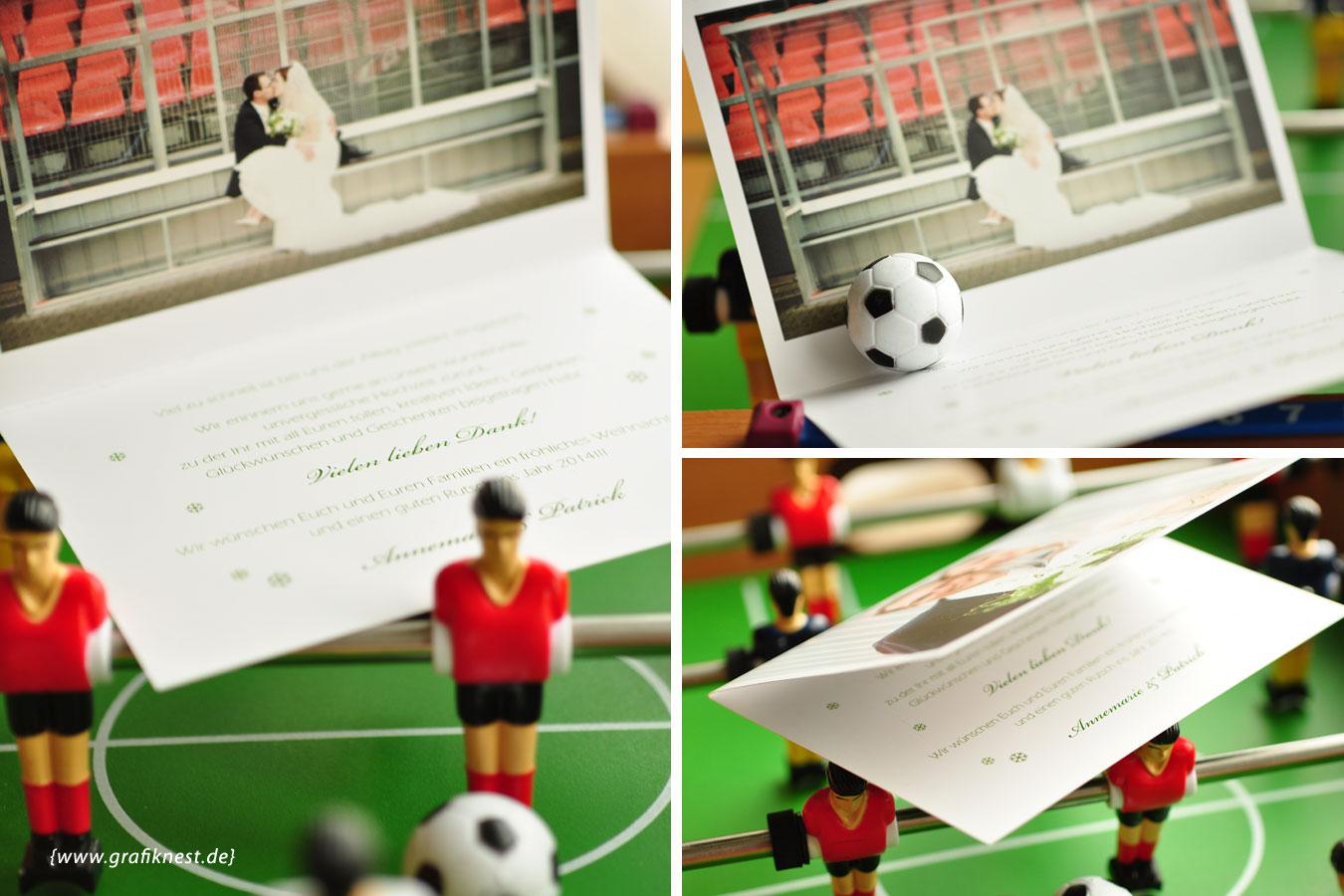Fussball Hochzeitskarten