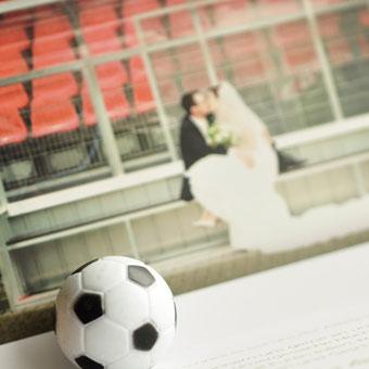 { Annemarie & Patrick: Fußball-Hochzeit - Dankeskarten }