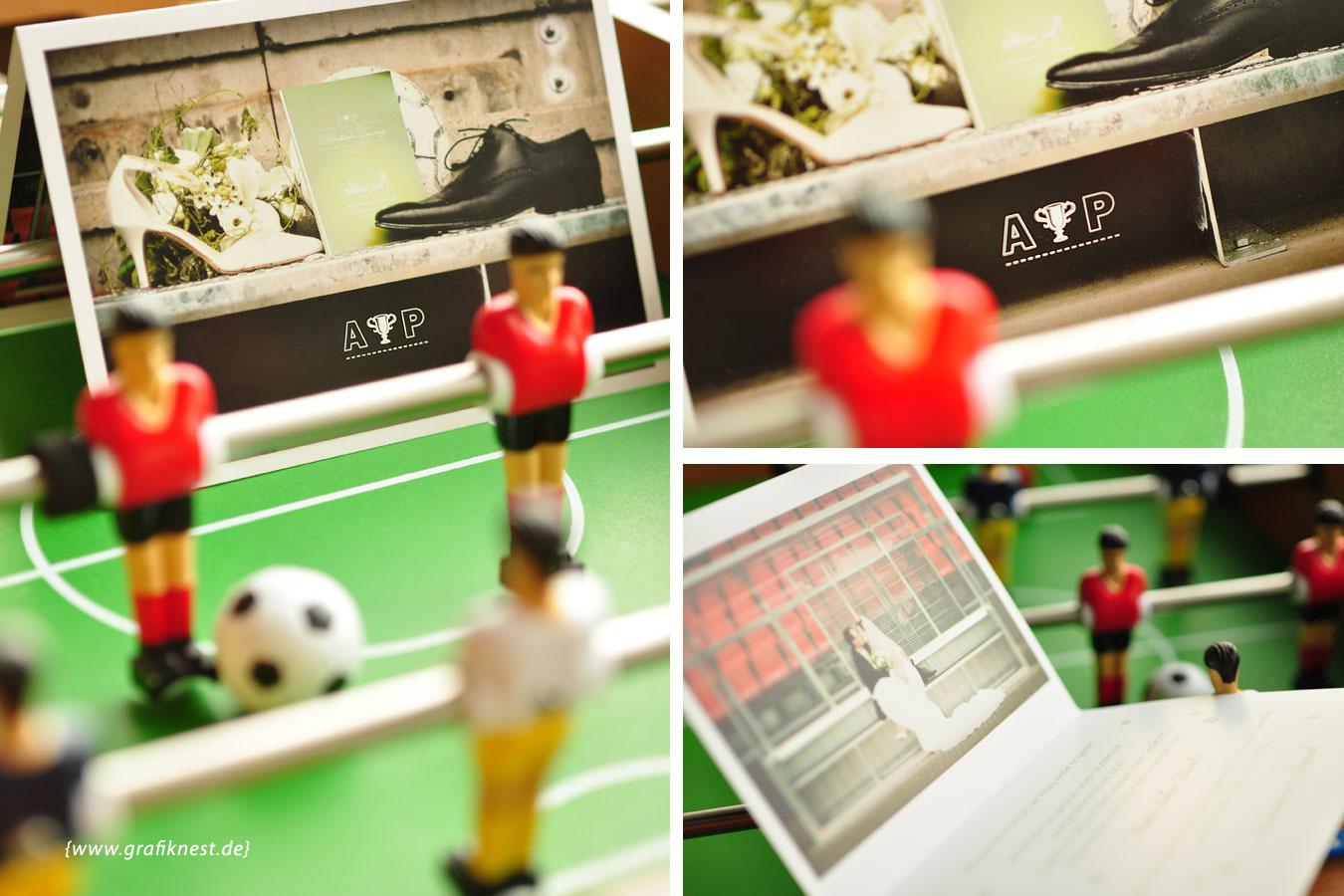 Hochzeitspapeterie Fussball