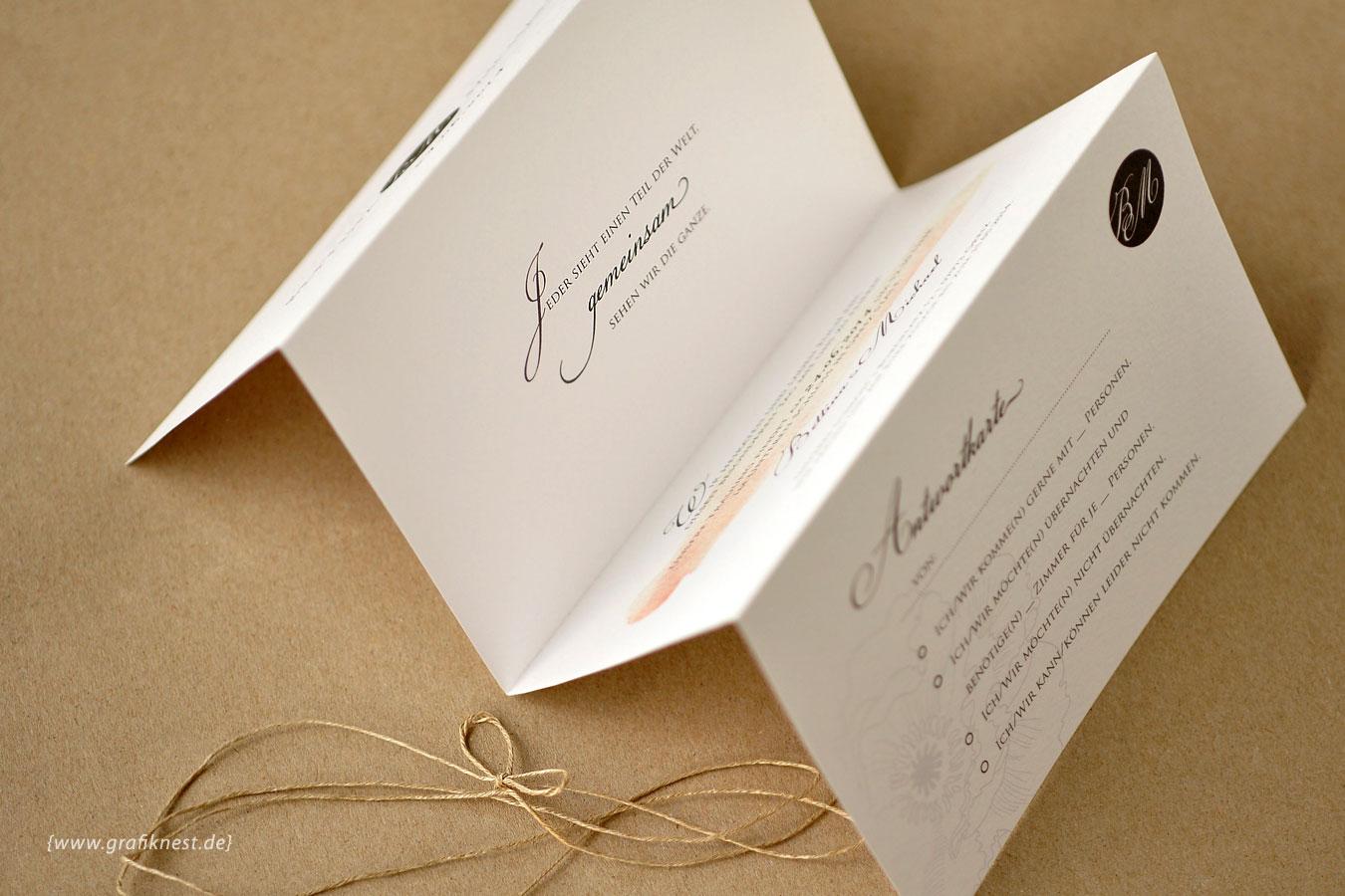 Hochzeitseinladung Leporello