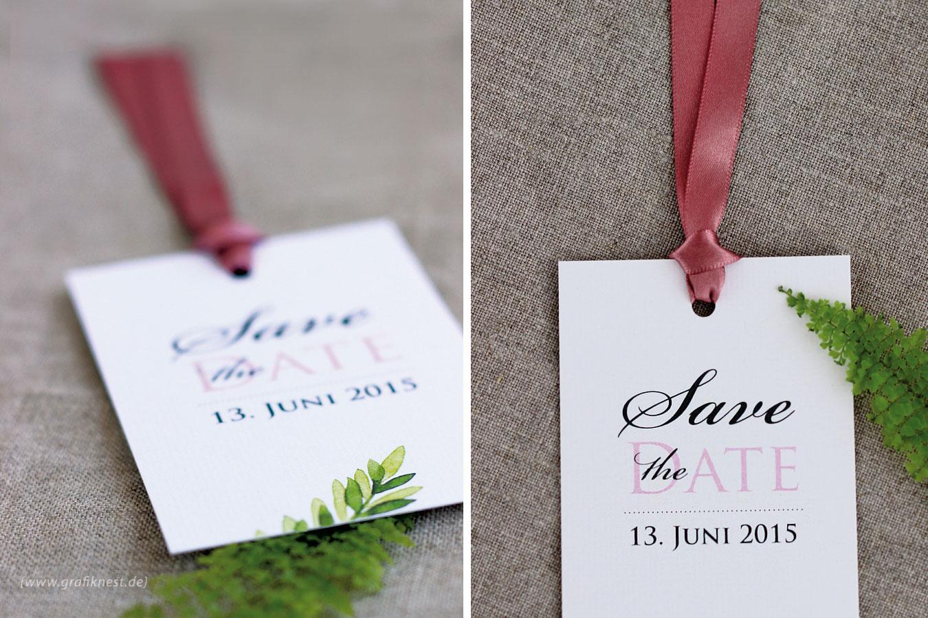 Farn Save the Date Karte