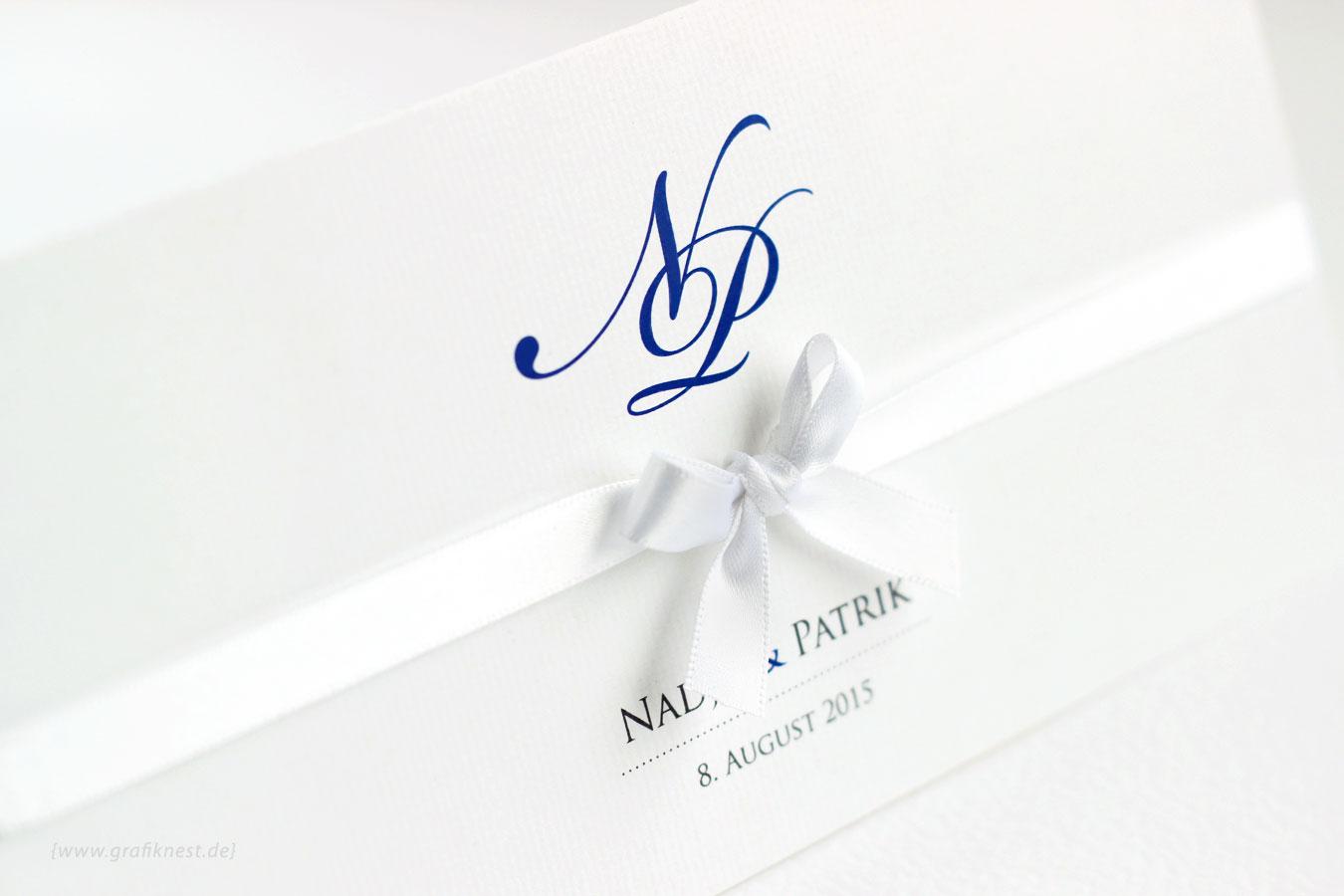 Stilvolle Hochzeitseinladung Mit Monogramm