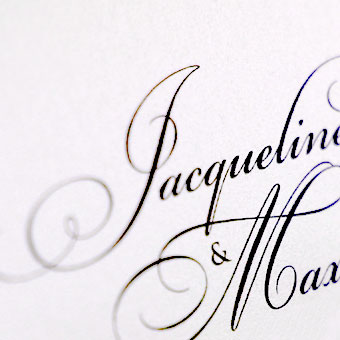 { Elegantes Monogramm-Design mit Schleife -  Jaqueline & Max }