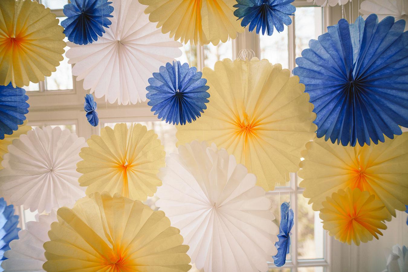 Summer in Sweden Fensterdekoration Blau Gelb