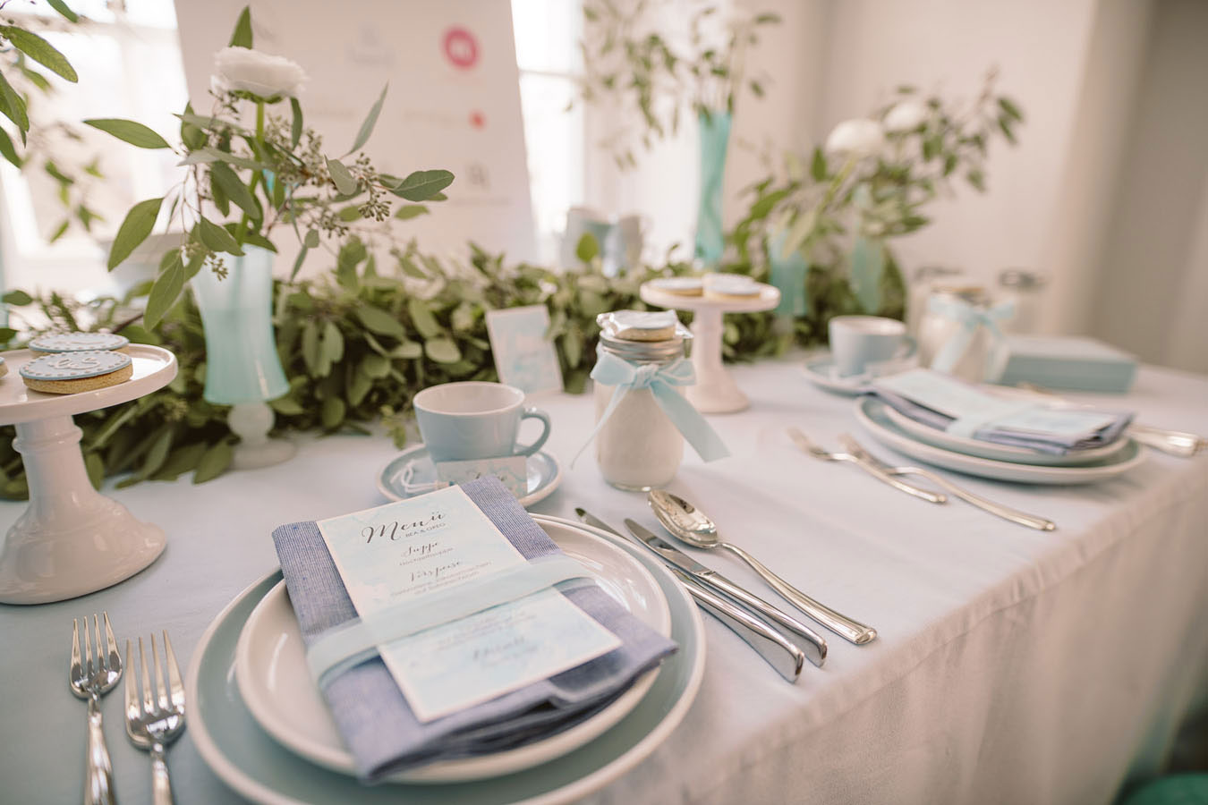 Sylt Aquarell Hochzeitspapeterie - Menü