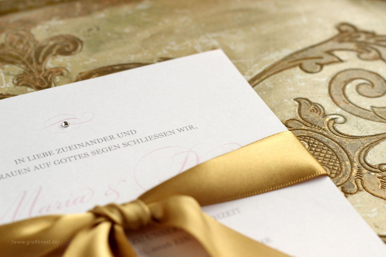 Elegante Burg Einladung