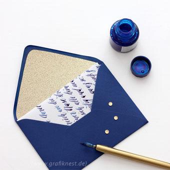 { Kalligrafie-Brief: Handgeschriebene Papeterie zum Geburtstag }