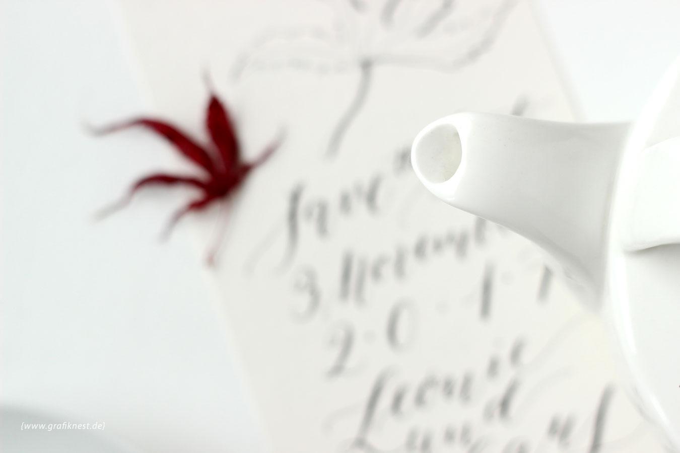Kalligrafierte Herbst Save the Date