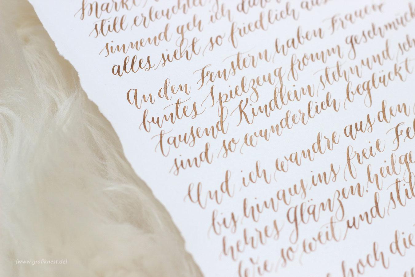Kalligrafiertes Wehnachtsgedicht