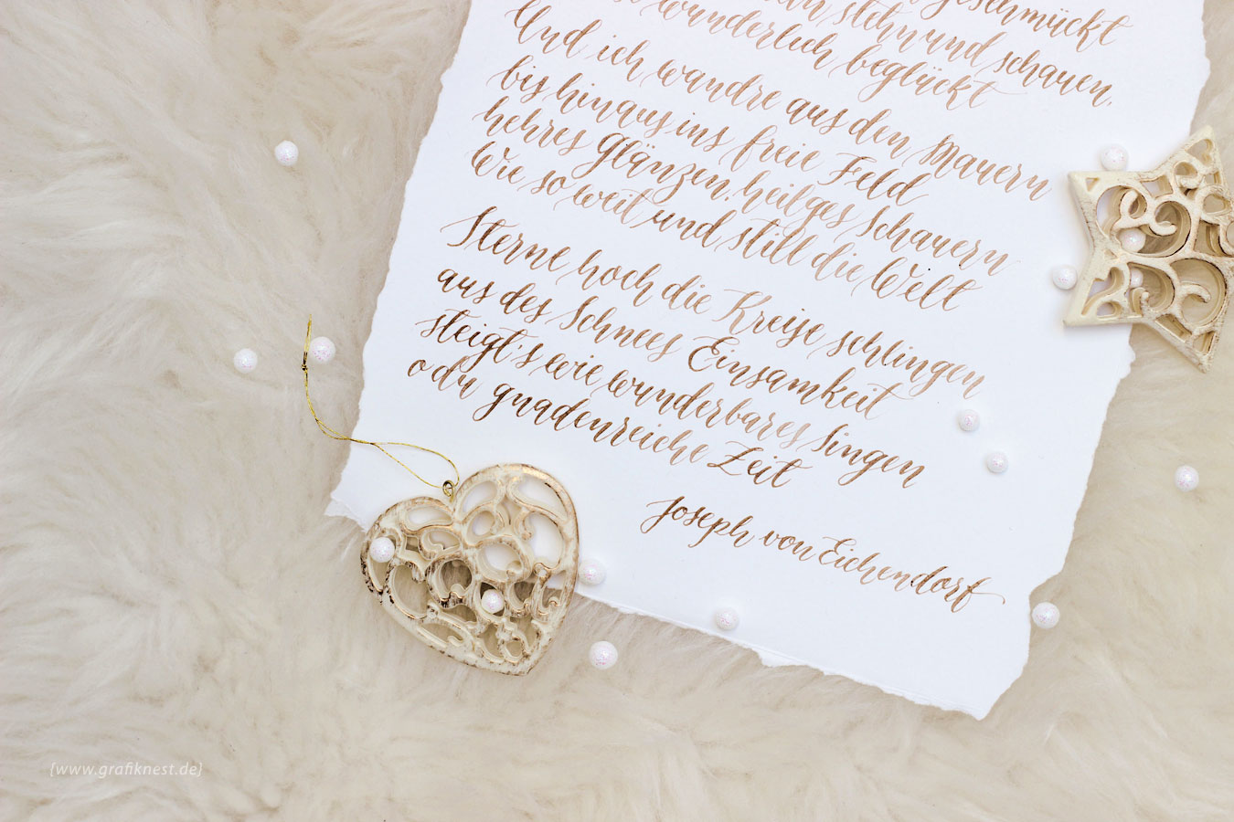 Kalligrafiertes Weihnachtsgedicht