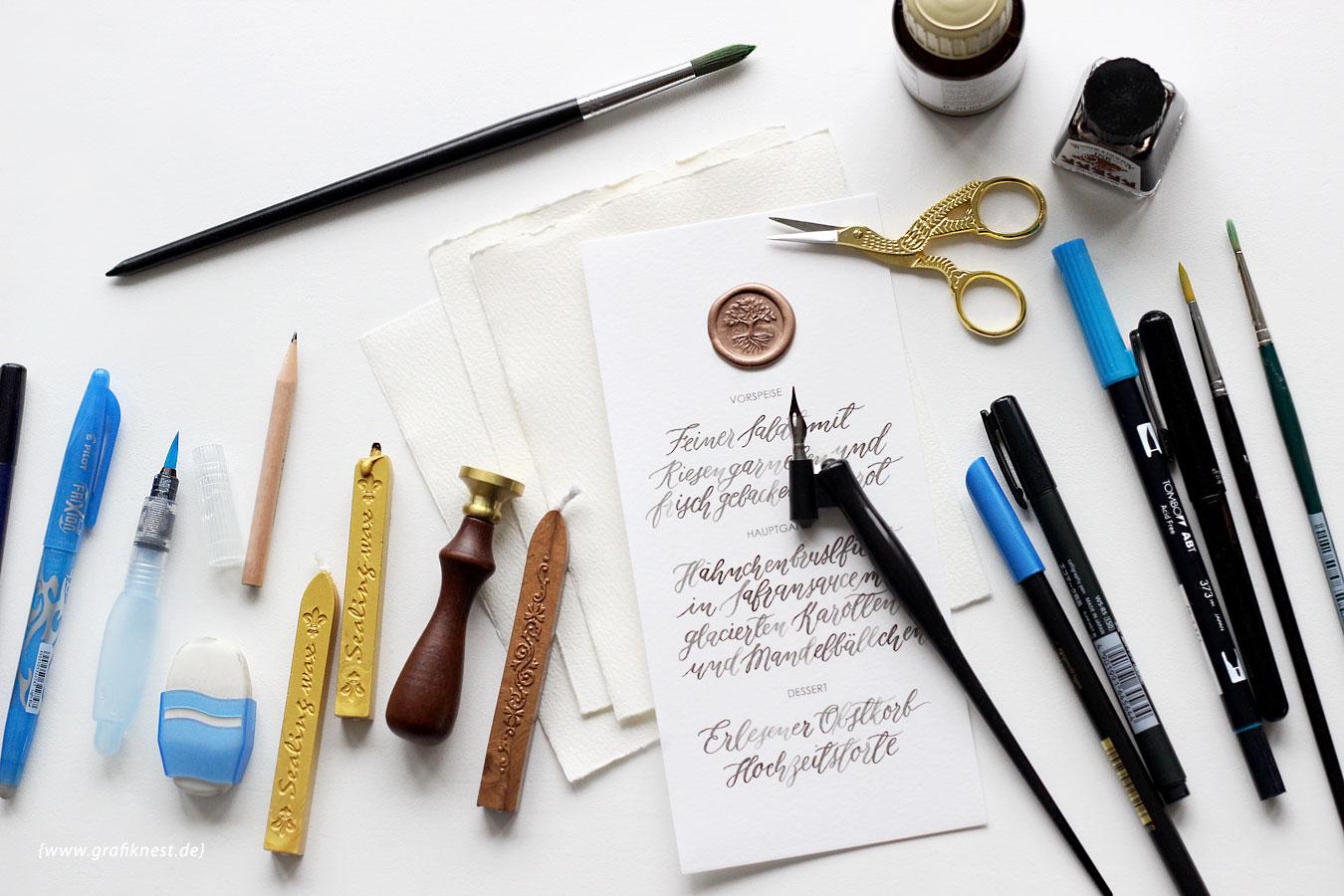 Design- und Kalligrafie-Werkzeuge