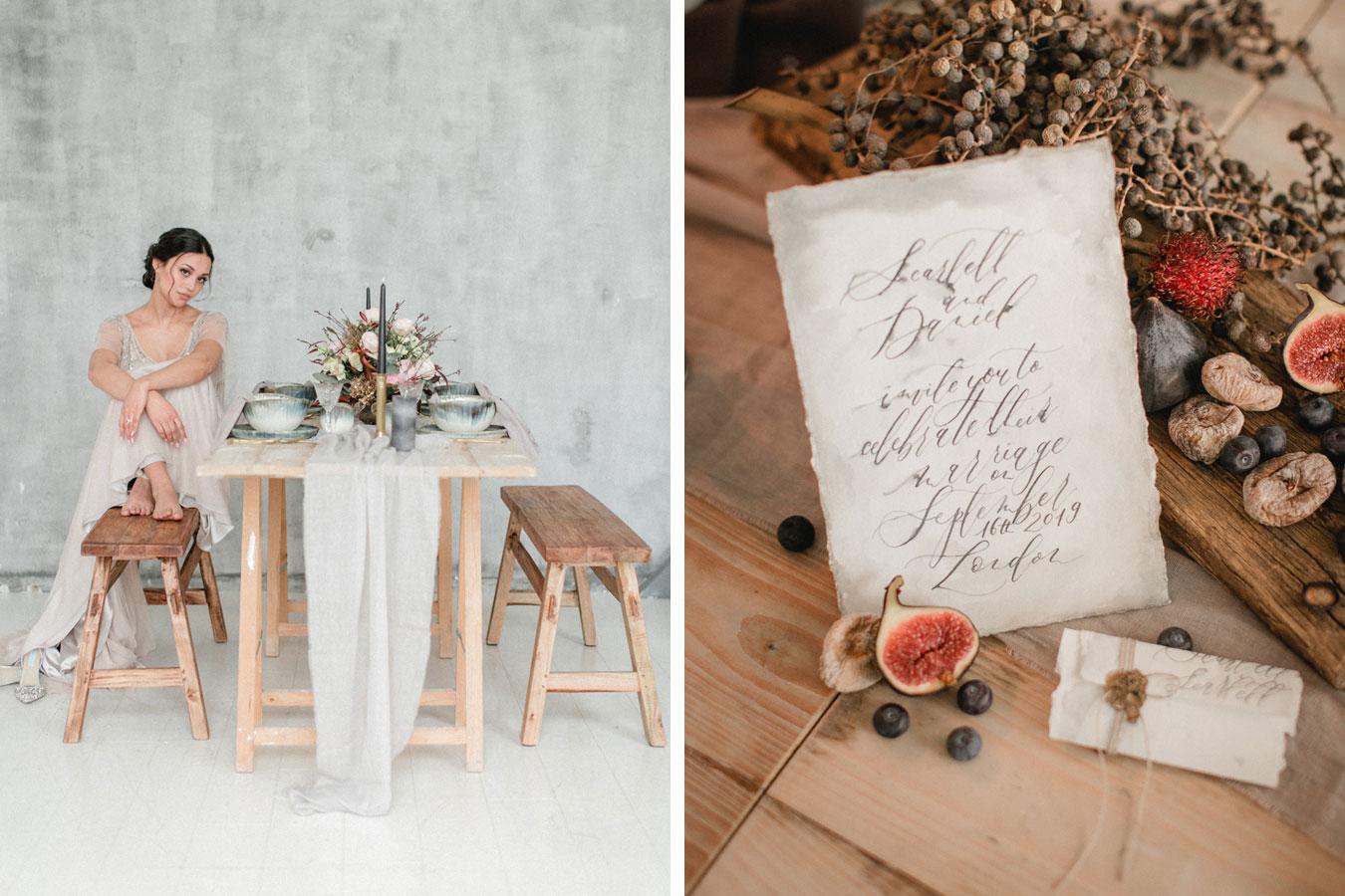 Fine Art Hochzeitseinladung