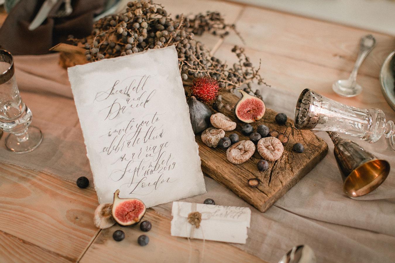 Fineart Hochzeitseinladung