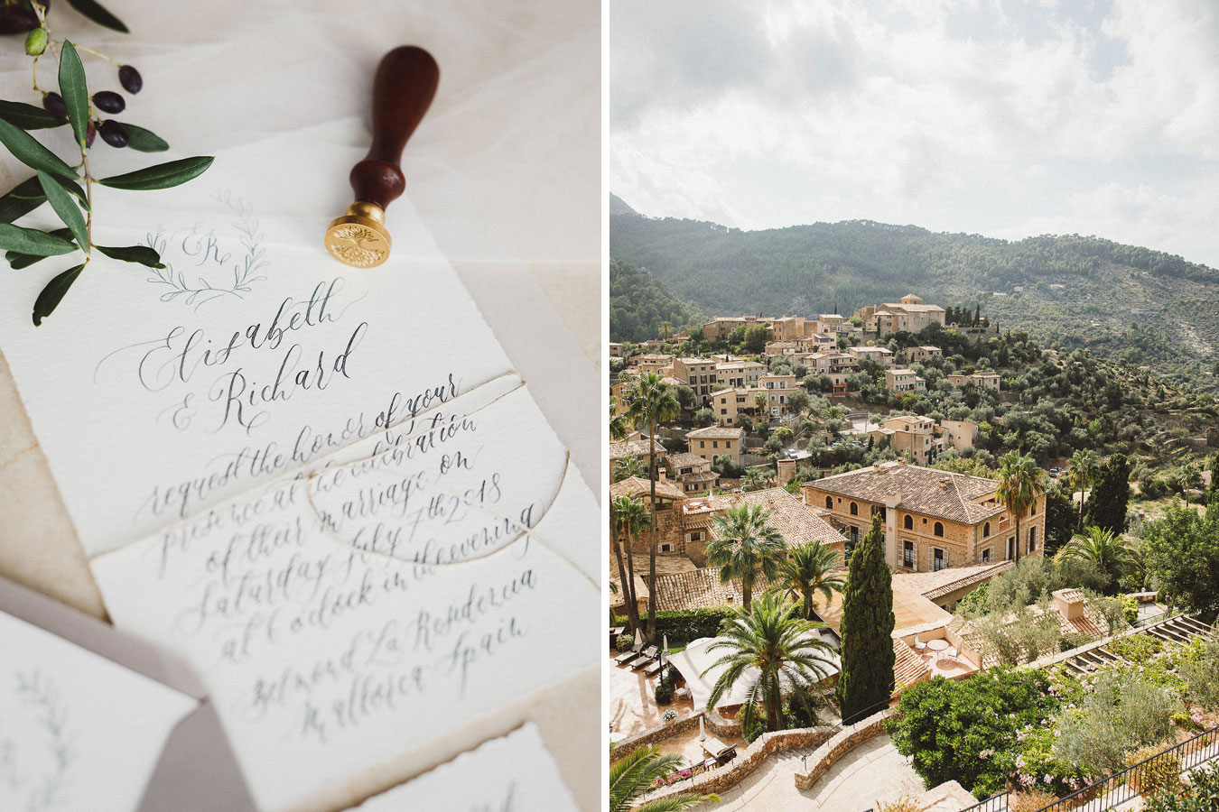 Mallorca Hochzeitseinladung